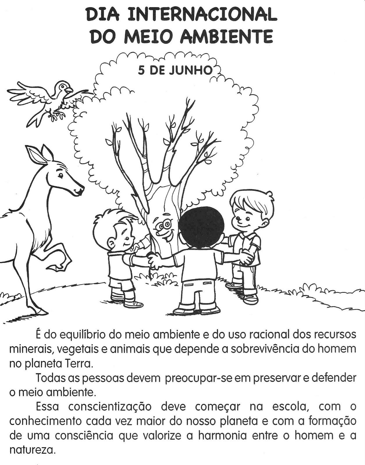 Dia Mundial do Meio Ambiente – 05 de junho – atividades ...